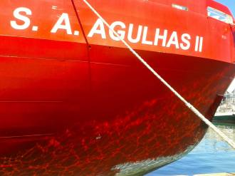 SA Agulhas II in port at the Cape Town Pier 1 (East Pier)