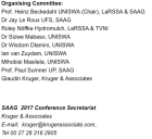 2017 SAAG Conference Organizing Committee